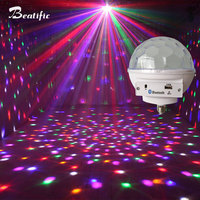RGB LED Disco Light for Home E27 Lamp table sound Bluetooth Music Center USB Player With Speaker magic Ball Sound Party Lights