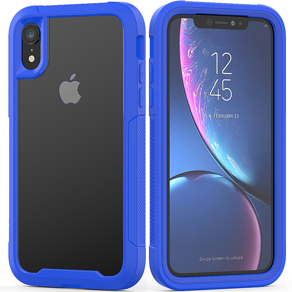 HTB16gXILQzoK1RjSZFlq6yi4VXa2 Transparent Anti-Scratch Protective Case For iPhone 11 Pro Max 6 6s 7 8 Plus X XS Max XR Hard PC+ TPU Bumper Dual Layer Cover