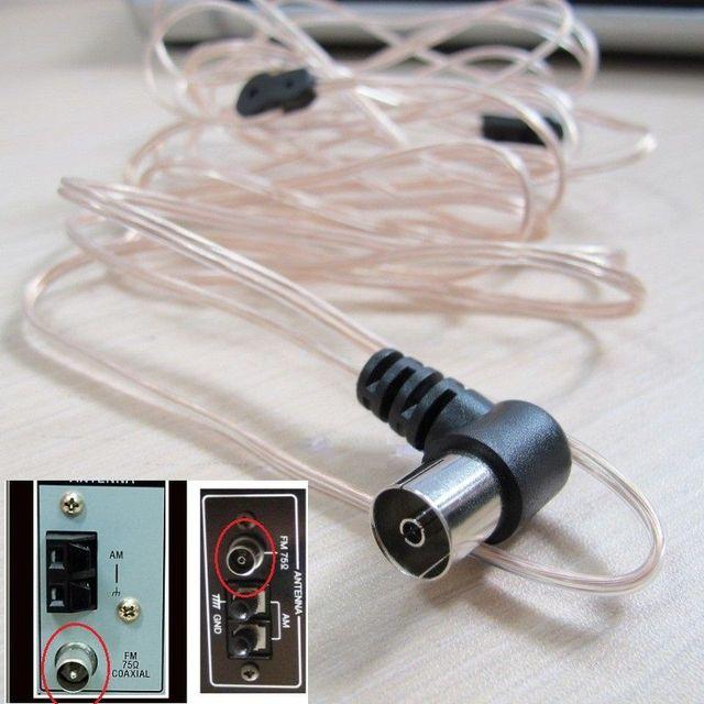 8FT Indoor FM Dipool T vorm Antenne, Koperen Antenne HD Radio Vrouwelijke Pal Connector, 75 Ohm voor Sony Chaine Stereo Ontvanger
