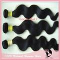 "Natural Color Body Wave Real Natural Hair Extension 4pcs/lot 14"" - 28"" No Shedding and Tangles Free Hair Ring"