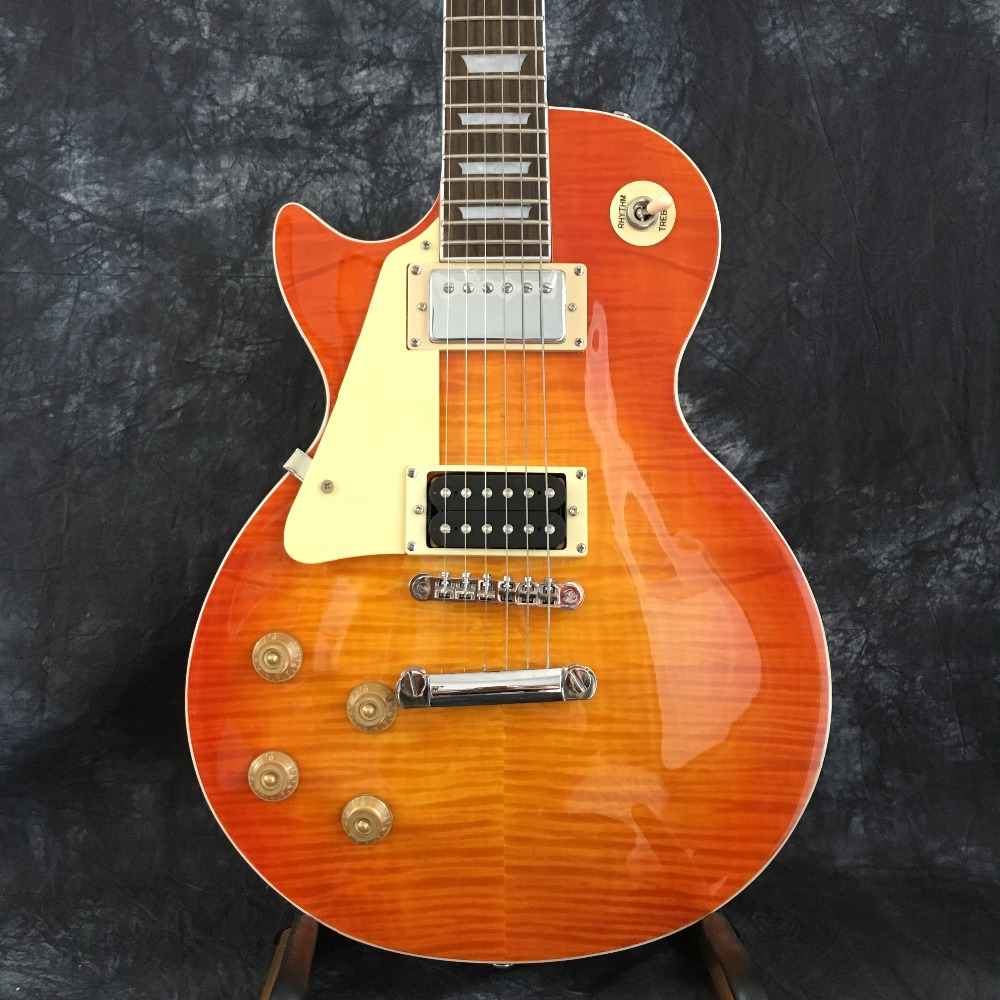 hot selling standard electric guitar left hand lp guitar new style mahogany free delivery. Black Bedroom Furniture Sets. Home Design Ideas