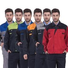 Рабочая одежда для мужчин, рабочая одежда, топы и штаны, ремонтник, автомеханика, Высококачественная Рабочая одежда