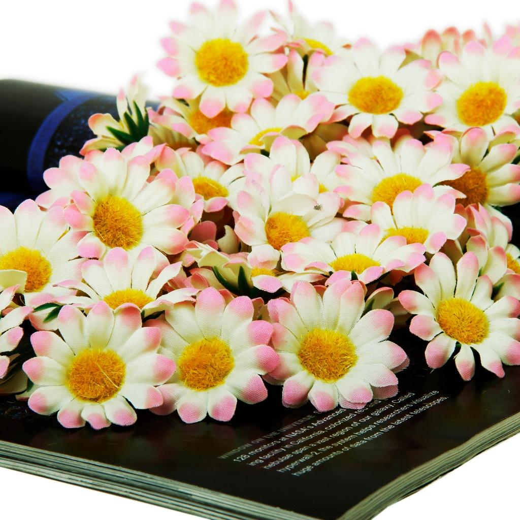 Wholesale 100x Silk Artificial Gerbera Daisy Flowers Heads For Diy