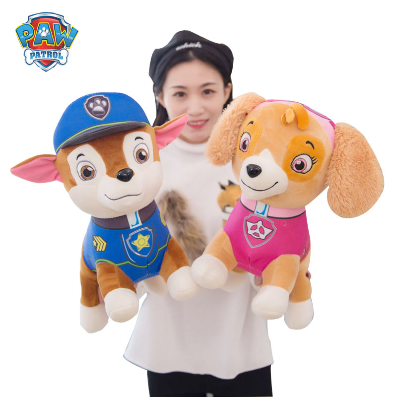 PAW PATROL anime plush doll kawaii soft toy set children's toy plush dog girlfriend gift doll paw patrol 40cm dog party