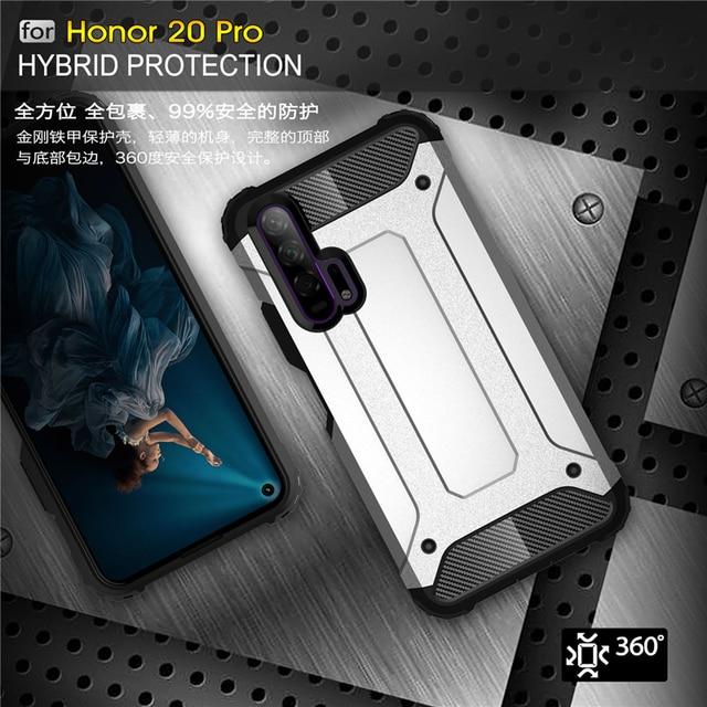 Pour Huawei Honor 20 Pro étui armure en caoutchouc robuste étui rigide pour Huawei Honor 20 Pro couverture pour Honor 20 Pro étui Youthsay