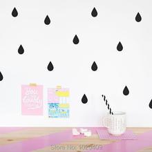 geometry raindrop sticker kids wall sticker wall decal decorative vinyl wall stickers for child bedroom glass window decorate