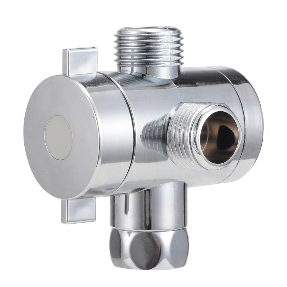 1/2'' 3-Way T-adapter Diverter Valve Adjustable Shower Head Arm Mounted Diverter Valve Bathroom Hardware Accessory