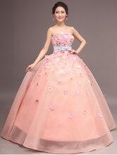 100%real photo light pink hydrangea flower ball gown queen medieval dress gown Renaissance Gown princess Victorian dress