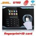 DHL livre sistema Linux ZK U160 WI-FI TCP biométrico de impressão digital comparecimento do tempo com leitor de impressão digital + senha + rfid