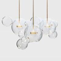 LED Postmodern Nordic Iron Glass Bubbles Designer Chandelier. chandeliers led light led lamp for dining room foyer