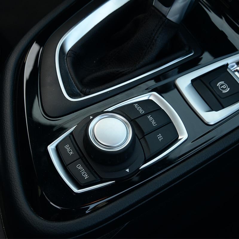 For BMW 118i 120i 125i New 1 2 3 4 Series F20 F30 F31 F32 F33 F35 GT 2016 2017 ABS Matte Chrome Multimedia Switch Sequin Trim Interior Mouldings    - AliExpress