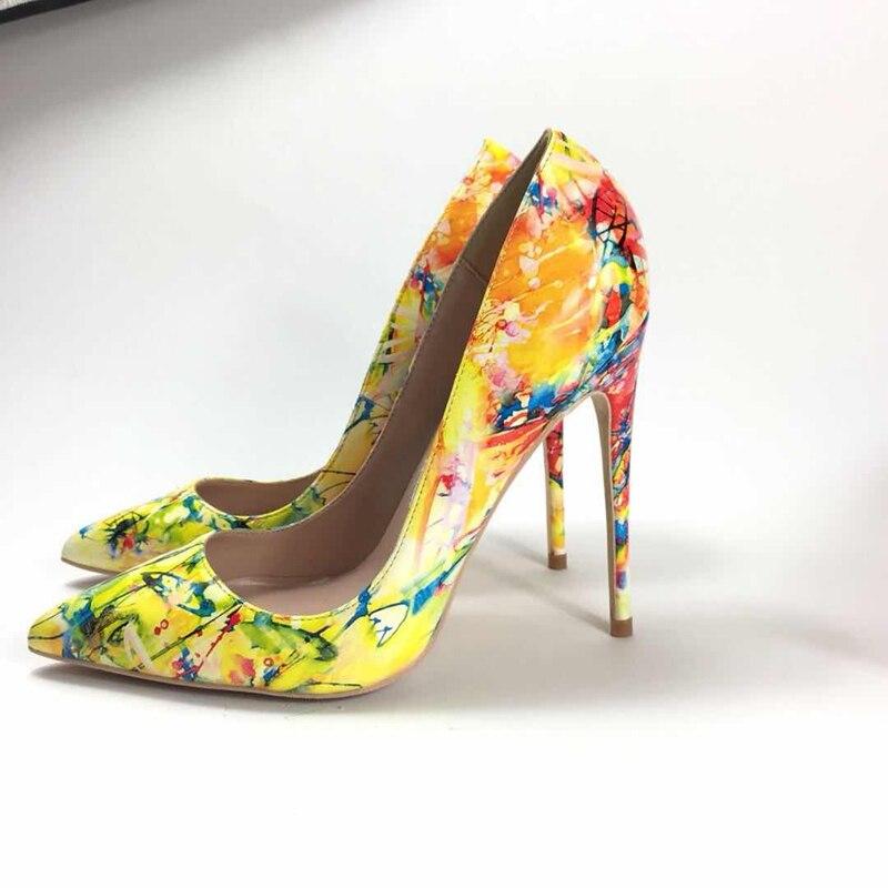 2018 ربيع جديد السيدات عالية الكعب مضخات ol الوظيفي واشار تو عالية الكعب بو الجلود رسمت ارتفاع كعوب النساء مضخات-في أحذية نسائية من أحذية على  مجموعة 2