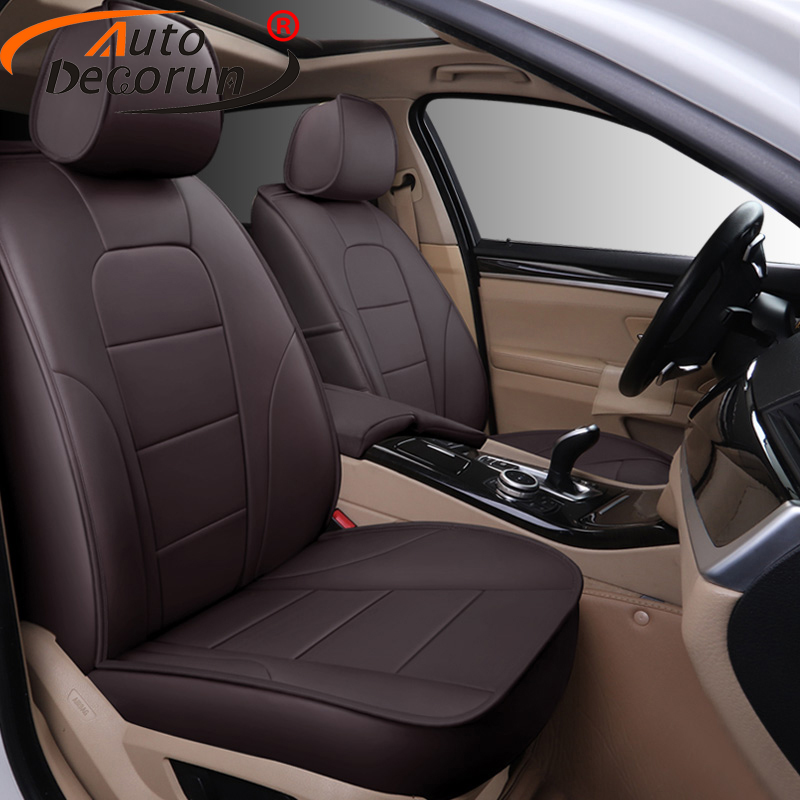 AutoDecorun 14PCS/Set Perforated Cowhide Seat Covers For