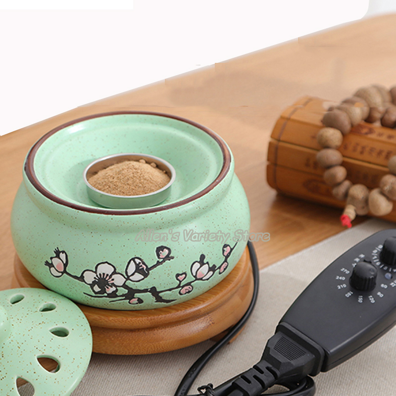 Bamboo Base Adjustable Temperature Time Warmer Fragrance