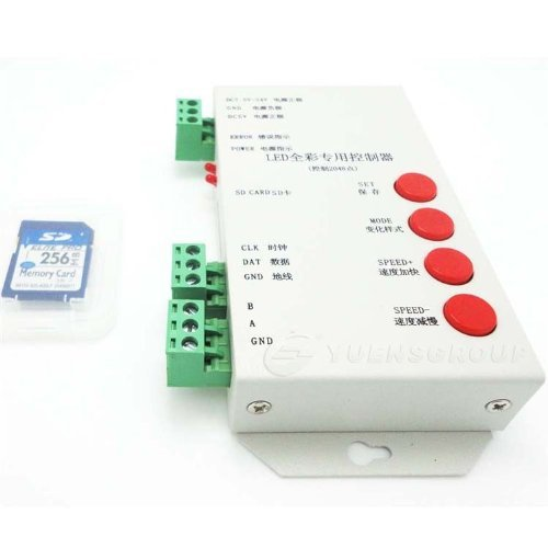 ФОТО LPD6803/DMX512/WS2811 DC5-24V RGB Pixel Controller for led strip/pixel/module/string+256MB sd card+Edit DIY program software