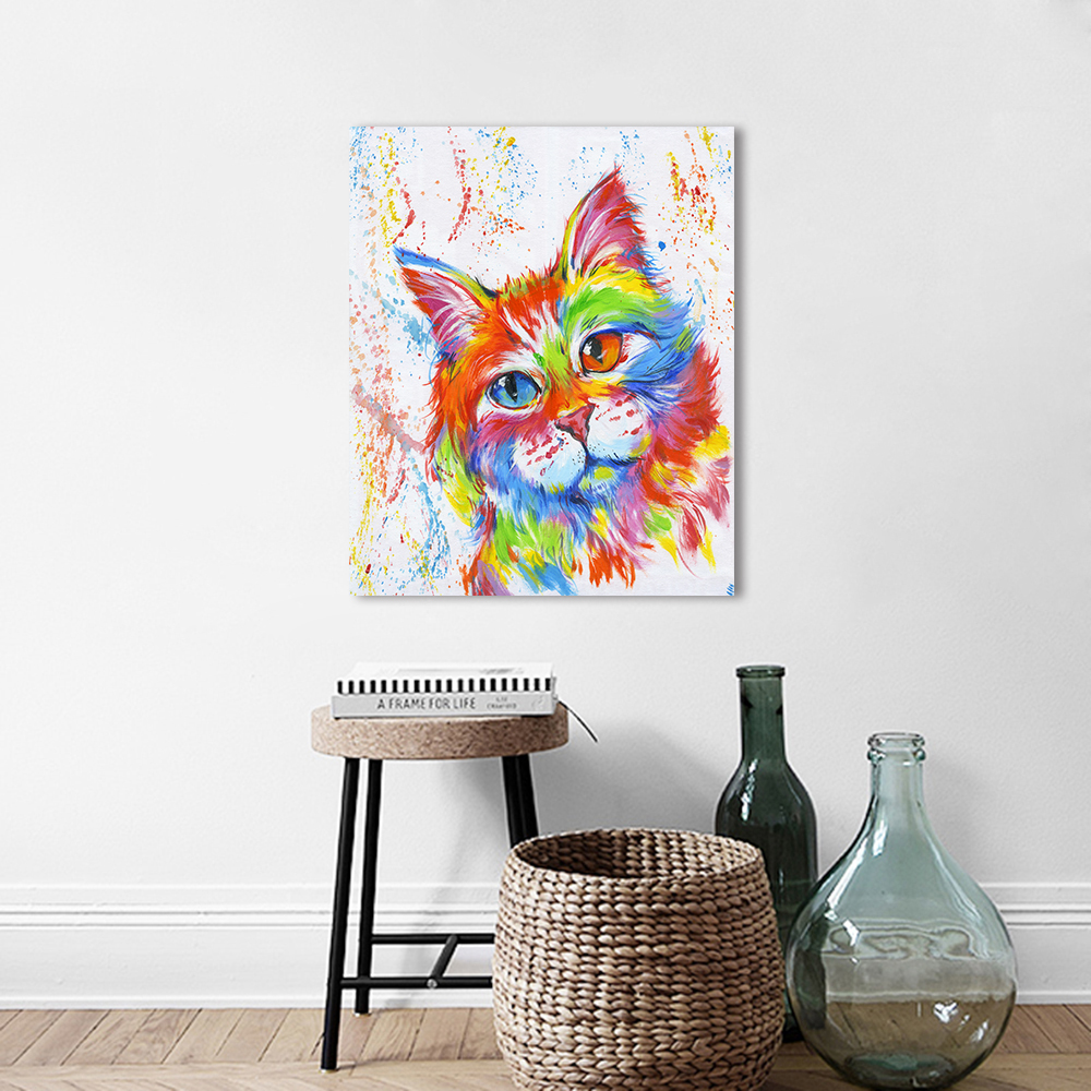 AAVV Wall Art Canvas Pictures Animal The Cat Painting Home Decor For Living Room No Frame X13 in Painting Calligraphy from Home Garden