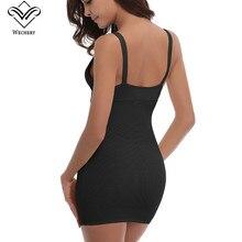 Wechery Sexy Deep V Neck Body Shaper Control Slips Butt lifter Wait Trainer Slimming Underwear Corset Dress Backless Shaperwear