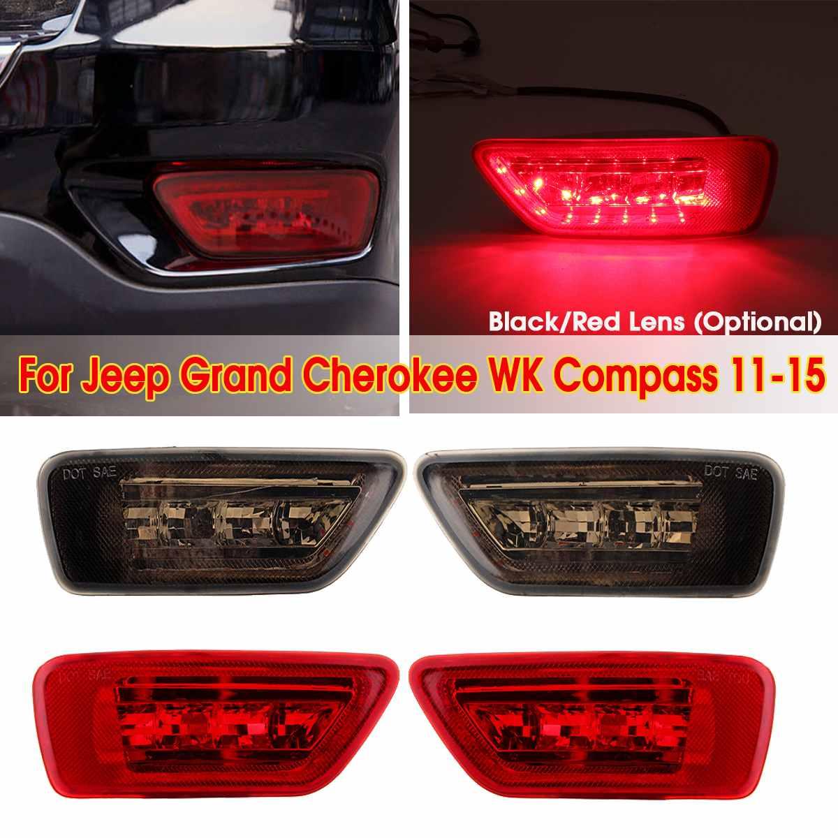 2pcs LED Rear Bumper Fog Marker Rear Lights Tail Brake Fog Lamp For Jeep Grand Cherokee
