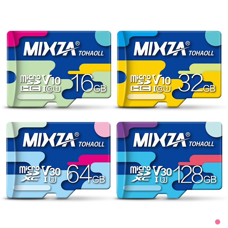 MIXZA Micro SD Card 256GB 128GB 64GB U3 80MB/S 32GB 16GB Class10 UHS-1 Memory Card Flash Memory Microsd TF/SD Cards 100% original sandisk microsd memory card 256gb 100mb s uhs i micro sd card class10 ultra microsdxc flash memory tf card