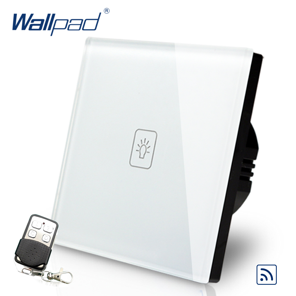 Remote Dimmer Wallpad EU Standard Touch Switch AC 110~250V White Wall Light Switch With Remote Controller remote e27 led light lamp holder stand w remote controller white ac 110 250v