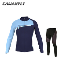 Cawanfly 2018 Long Sleeve Breathable MTB Bike Clothing Men Bicycle Clothes Ropa Ciclismo 100% Polyester Cycling Jersey Set