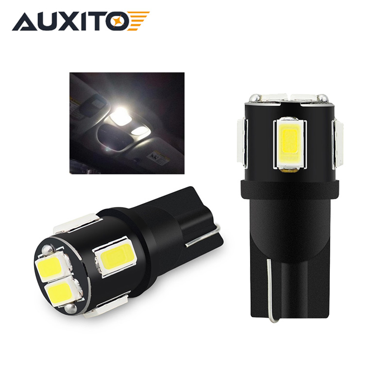 10Pcs AUXITO T10 W5W LED Bulb 194 168 Car Interior Light For Subaru Impreza Legacy XV Suzuki Swift Grand Vitara Jimny SX4