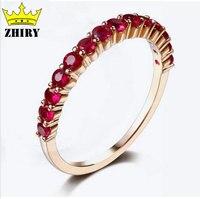 18 К розовое золото рубиновое кольцо 0.7 карат 100% натуральный драгоценный камень Подлинная Желтое золото женщина кольца элегантный ювелирных