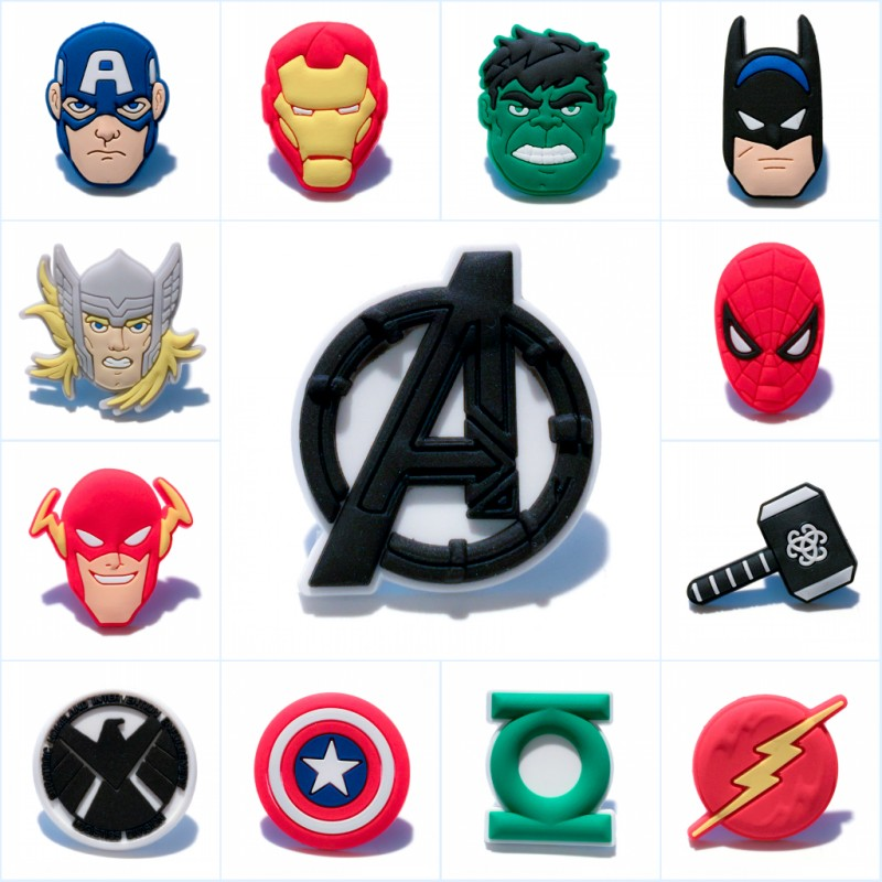 8pcs/lot Avenger Heroes Cartoon Pvc Charm Stationery Cute Magnetic Stickers Blackboard Magnets Kids Gift Party Favors Skillful Manufacture