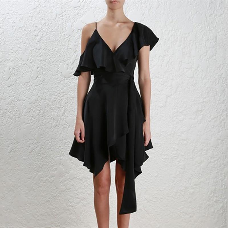 INDRESSME-2019-New-Fashion-Off-the-Shoulder-V-Neckline-Sashes-Ruffle-Women-Party-A-Line-Midi (3)