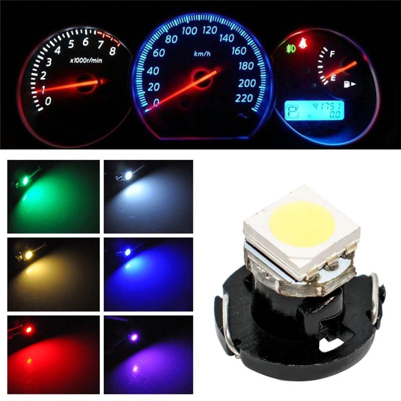 T4.7 Wedge 1-5050 SMD LED Car Dashboard Light Blue 4 Pcs Interior