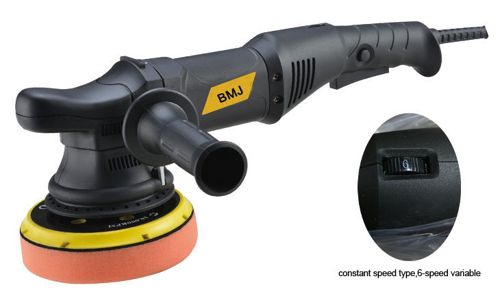 big throw thread 21mm 6 speed variable 6 inch 150mm constant speed  type  dual action random orbital polisher buffer 700w 110v 120w orbital professional variable speed polisher with terry cloth bonnet