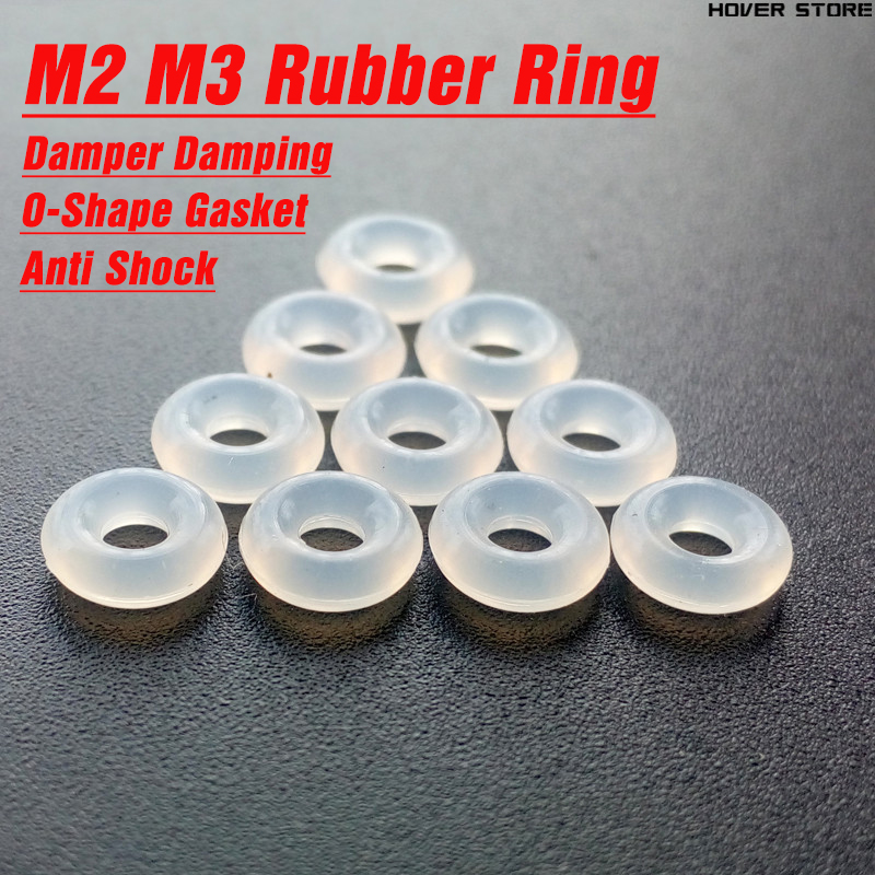 M2 M3 Upgraded Silicone Rubber O-shape Ring Gasket M2 M3 Rubber Damper Damping For F3/F4/F7 Flight Control FPV RC Drone