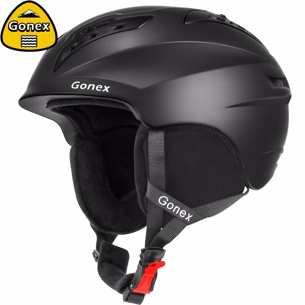 Gonex 2019 casque de Ski classique avec certificat de sécurité casque de Snowboard entièrement moulé pour les Sports d'hiver Ski hommes femmes