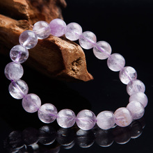 цена Newly Natural Purple Kunzite Cat Eye Round Beads Bracelet 10mm Gemstone Crystal Women Men Stone Rarest Bracelet Jewelry AAAAA онлайн в 2017 году