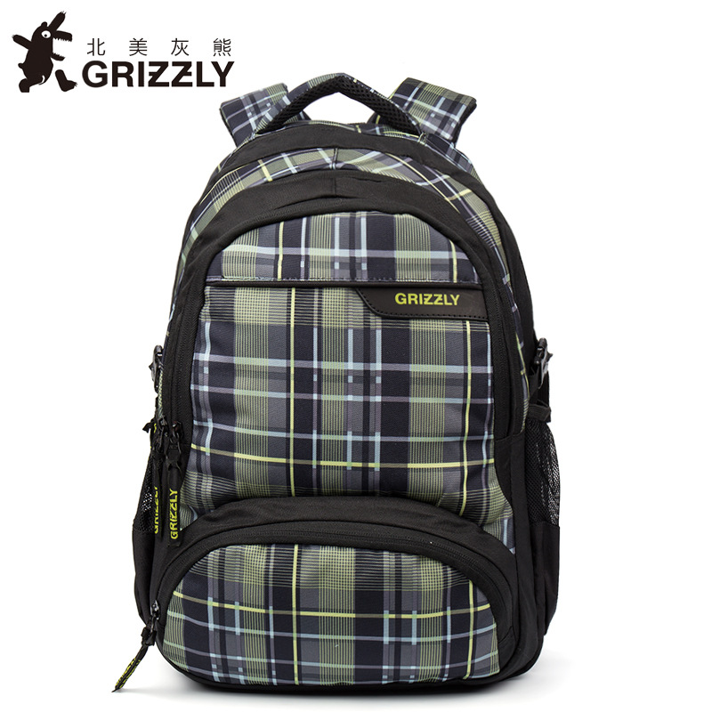 GRIZZLY Multifunction Mochila Waterproof School Bags Large Capacity Travel Bag New Fashion Laptop Men Backpack for