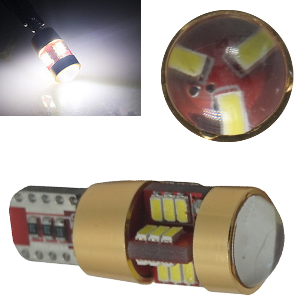 CQD-Light Canbus White Bulb T10 W5W 147 Car Door Light 3014 SMD No Error Led Parking Light Dome Lamps Led Interior Lights DC 12V