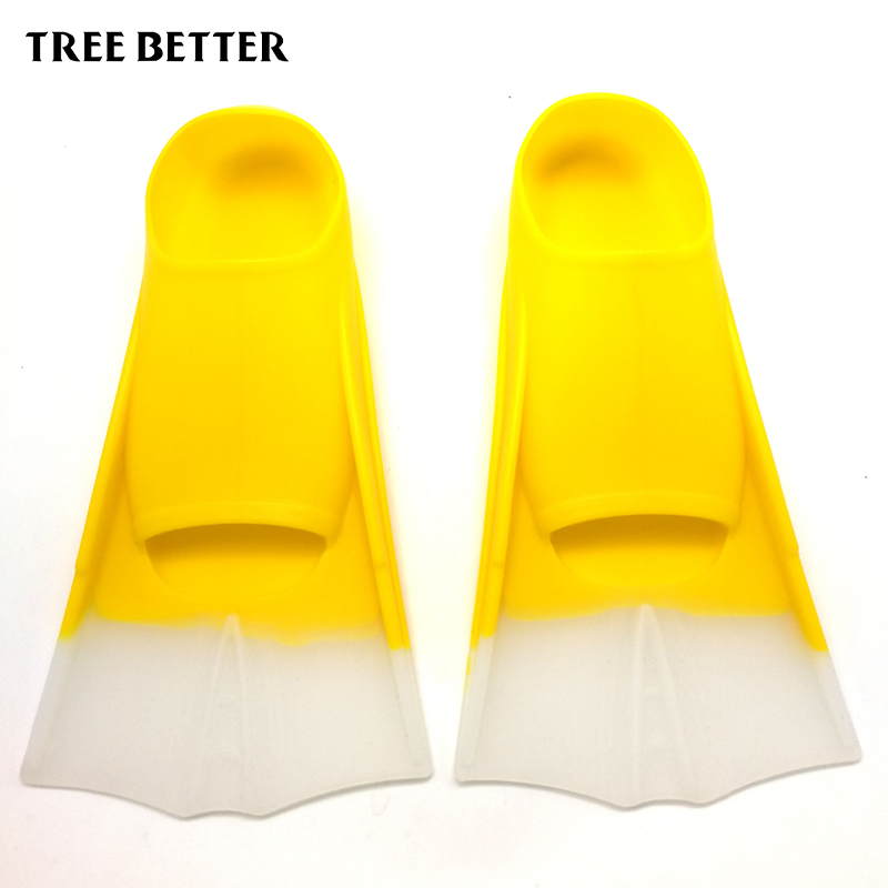Adult Flexible Comfort Swimming Fins Silicone Submersible Snorkeling Long Flippers Foot Diving Fins Water SportsFins Women Men