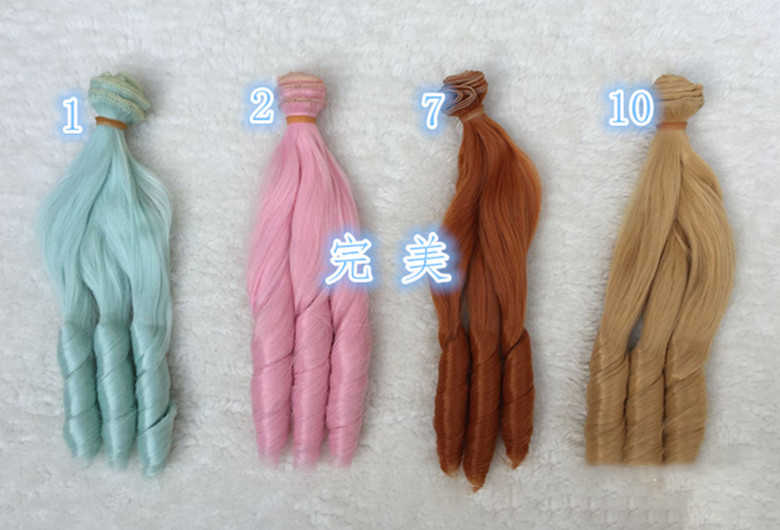 1pcs 20*100cm 48colors Lolita Tresses Rome big roll Doll Wig Material Hair Wig For BJD SD Fit for 1/6  1/3  1/4 Doll Accessories