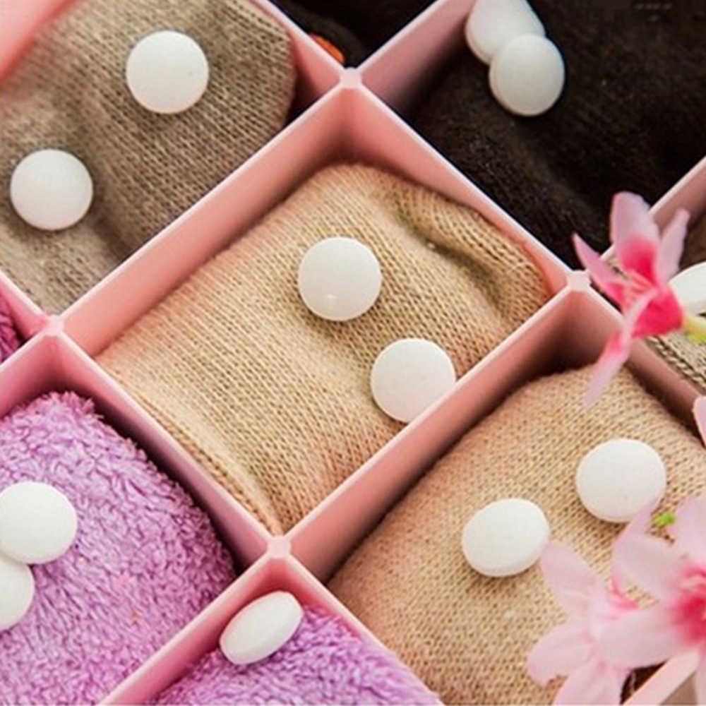 Naturalne Mothballs Anti-mold Moth repelent kamfora piłka odzież kontrola owadów dezodorant w toalecie Moth aromatyczne kulki 20 sztuk/worek