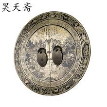 [ Хаотянь вегетарианская ] китайский античный мин и цин мебель меди фитинги дверная ручка деньги HTB-139 бабочки пейзаж secti
