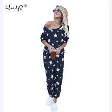 Ensemble pyjama imprimé étoile pour femme, ensemble pyjama doux et confortable, vêtement de nuit pour la maison, collection automne hiver pantalons et haut