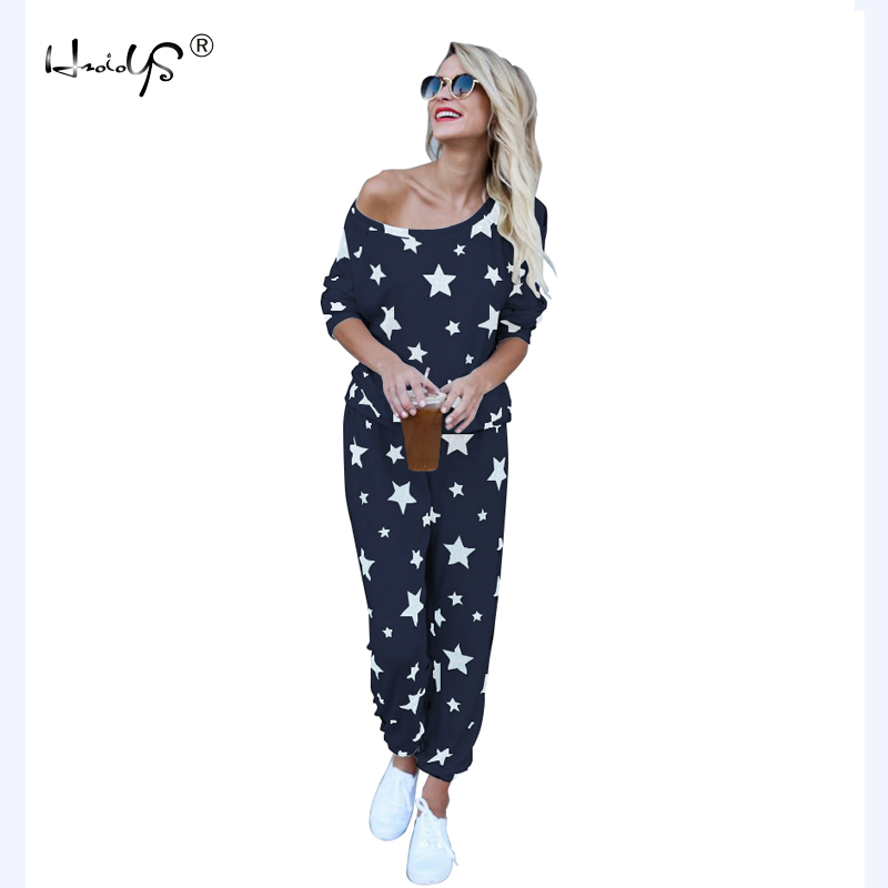 Star Printed Autumn Winter Women   Pajama     Set   Soft Comfortable Pyjamas Home Suit Women's Sleepwear Top and Pants   Pajamas     Set