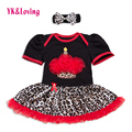 2017 Fashion Baby Girls Dress Leopard Print Lace Baby Girl Christening Gowns Infant Vestito  Free Shipping High Quality