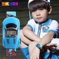 Niños relojes skmei marca de moda creativa digital sport reloj de los cabritos muchachas de los muchachos de la historieta del coche de pulsera relogio masculino