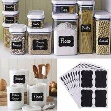 32Pcs/Set Black Board Jam Jar Labels Stickers For Kitchen Dining Room Removable On Bottles Chalkboard Decor