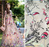 Brand Organza Water Soluble Lace Embroidery Mesh French Voile Milk Silk Lace Fabric For Wedding Dress
