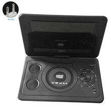 USB 13,9 дюйм, перезаряжаемый аккумулятор портативный Открытый lcd CD HD мини домашний ТВ игра автомобиль поворотный экран dvd-плеер