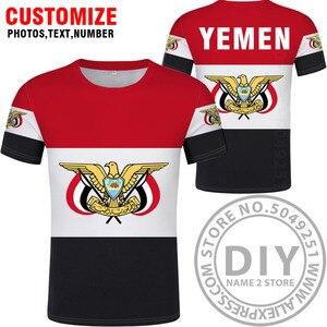Image 2 - YEMEN maglietta fai da te di trasporto custom made nome numero di yem t shirt nazione bandiera ye islam arabi arabo paese repubblica stampa foto dei vestiti