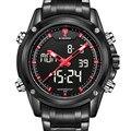 Мужские Часы Лучший Бренд Класса Люкс NAVIFORCE мужские Кварцевые часы Аналоговый Цифровой СВЕТОДИОДНЫЙ Спортивные Часы Мужчины Военный Наручные часы