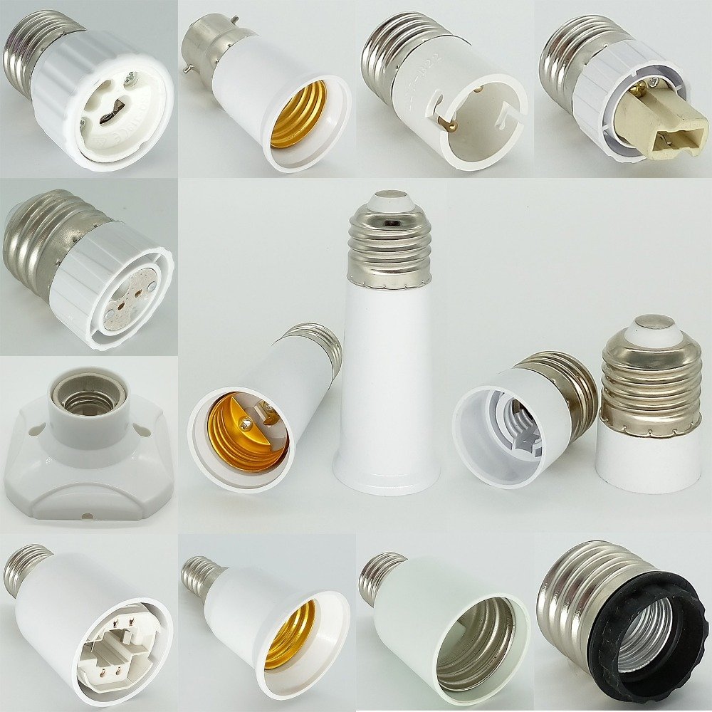 G4 Lamp Holder E27 to <font><b>E12</b></font> Double E21/Fc2 to B22 G9 MR16 G13 G5.3 E17 to E40 G24 Lamp <font><b>Socket</b></font> Base Bulb Holder Adapter Converter image